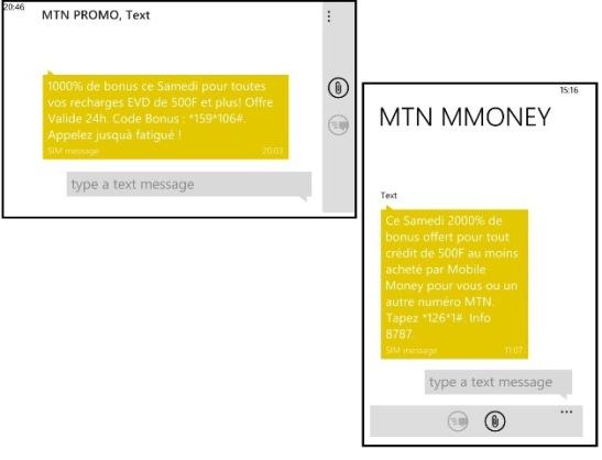 MTN PROMO 1000 et 2000