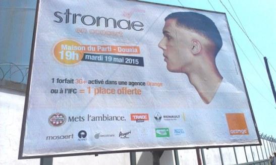 Affiche concert Stromae Douala