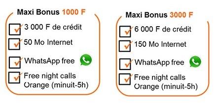 Maxi Bonus Appel gratuits minuit-5h