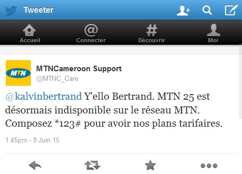 MTN Indisponible