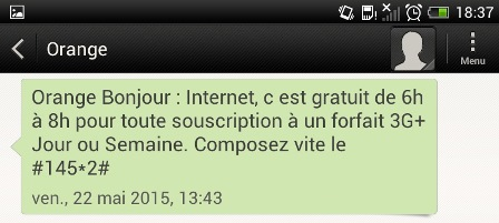 Orange Bonjour SMS