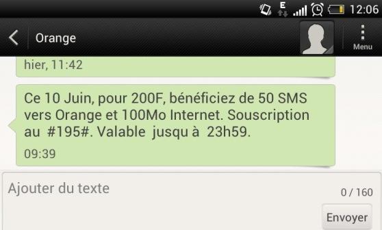 SMS orange 10 juin