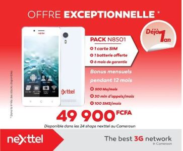 Pack Nexttel N8501 à 49 900F