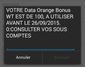 data Orange bonus
