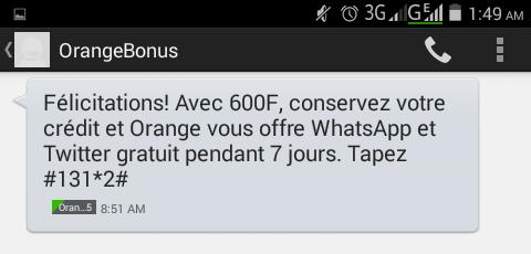 Orange Bonus SMS