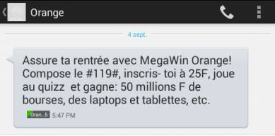 SMS megawin