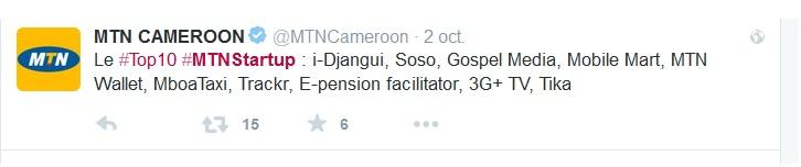 #MTNSTARTUP MTN Cameroon Twitter