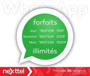 Forfaits WhatsApp NeXttel Cameroun