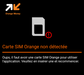 Carte SIM Orange Non dectectée