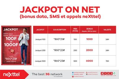 jackpot on net Nexttel
