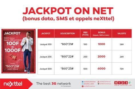 jackpot on net Nexttel