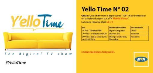 Gagnants Yello Time N°02