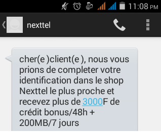 Bonus Identification Nexxtel