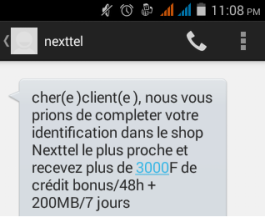 Bonus Identification Nexxtel