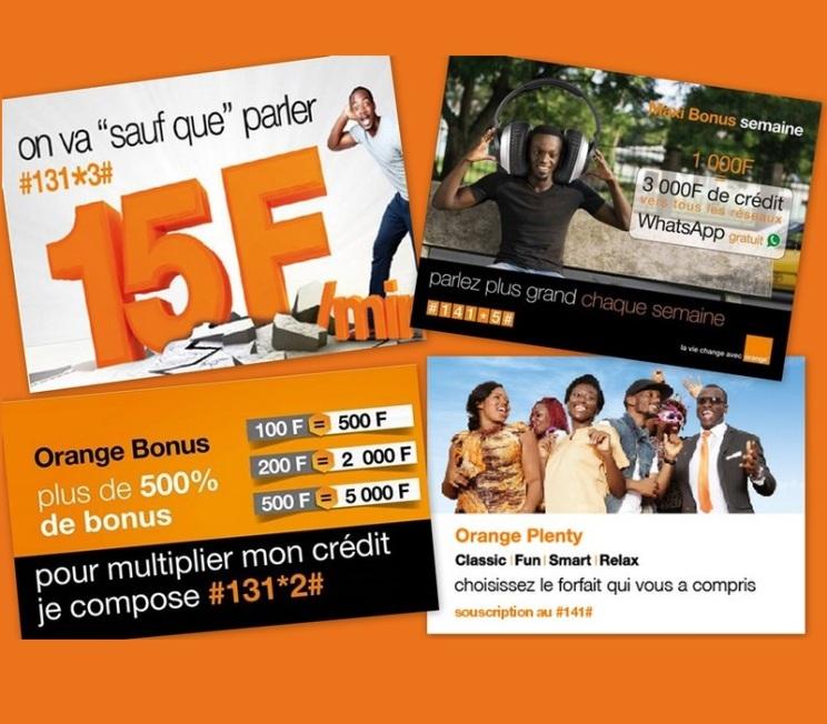 tous les bonus Appels chez orange Cameroun