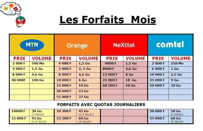 Comparatif les forfaits internet mobile Mois - Cameroun.jpg
