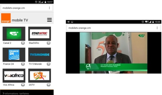 Mobile TV Orange Cameroun
